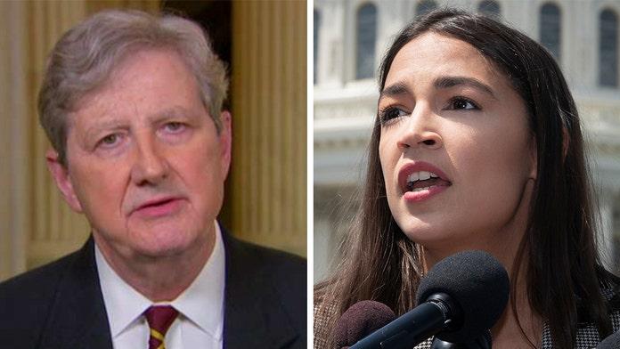 Sen. John Kennedy says AOC's 'hypocrisy is breathtaking,' slams Dem for opposing border funding bill