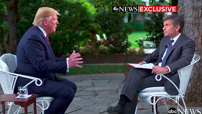 Trump pressed by Stephanopoulos on McGahn's testimony to Mueller: 'George, you're being a little wise guy'
