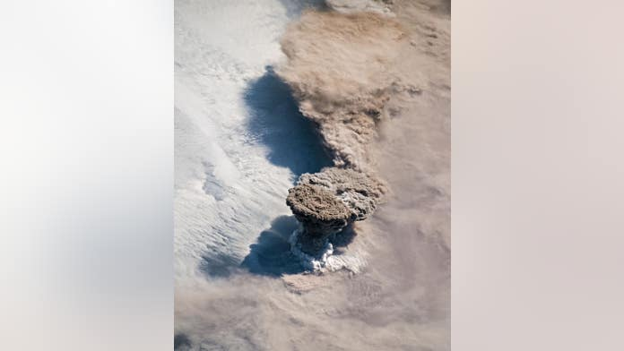 Raikoke volcano seen erupting in incredible image from space