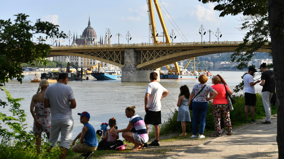 Sunken Danube tour boat is raised in Hungary, 4 bodies found
