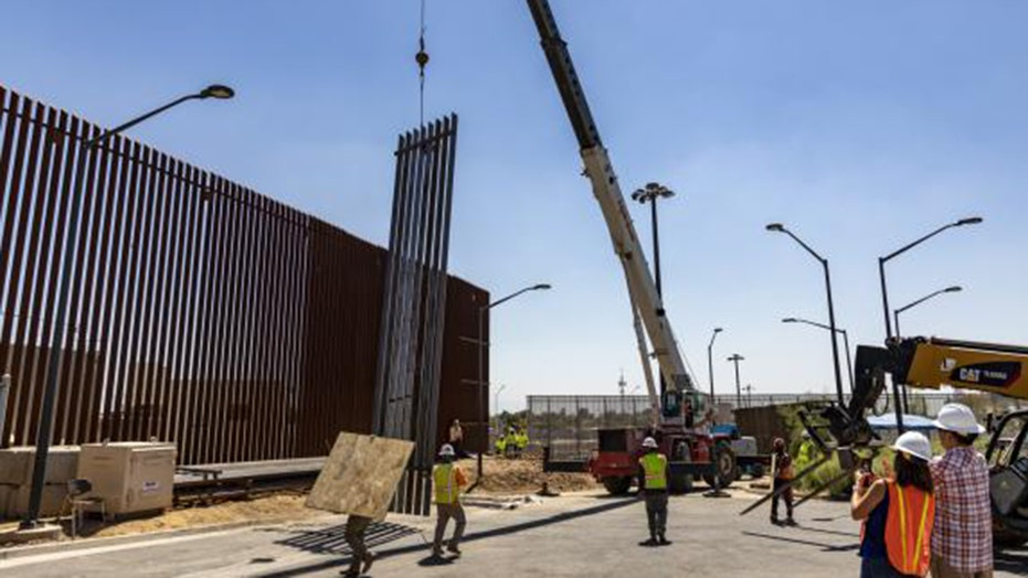 New reinforced panels are being used to strengthen the border wall in the Calexico area of California.