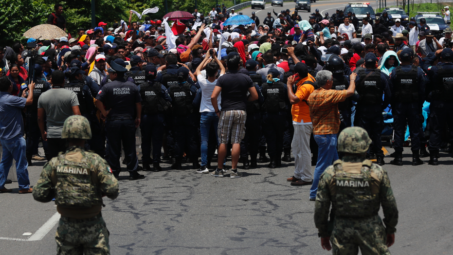 Mexico announces 56 percent drop in number of migrants