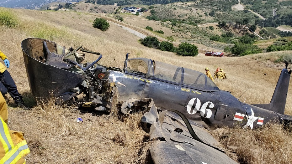 California vintage military plane crash leaves pilot dead
