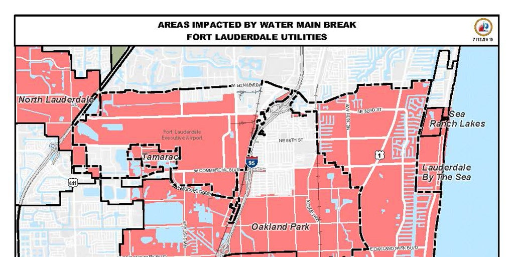 Fort Lauderdale restores much of its water service, urges ... on san petersburg map, miami beach, lauderdale isles map, ne palm bay map, panama city, pompano beach, st. augustine, greater sarasota map, marco island map, fort myers, colorado springs map, daytona map, naples map, boca raton, west palm beach, north jacksonville map, hutchinson beach map, broward county map, port canaveral map, broward county, palm beach florida map, hypoluxo island map, ft. lauderdale to clearwater map, deerfield beach, south beach, miami map, palm beach, ft. lauderdale tourist map, gladeview map, key west, southwest orlando map, boca raton map, daytona beach,