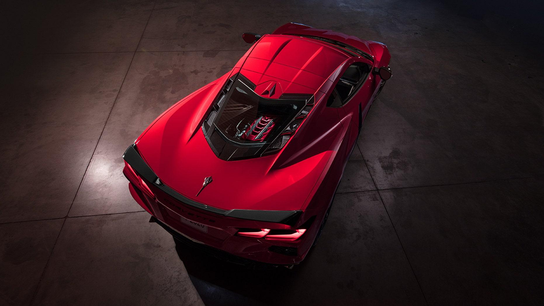 2020 Chevrolet Corvette top view