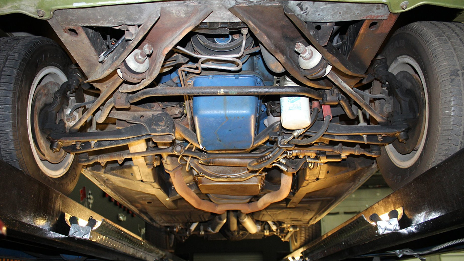 1968 Shelby GT500 undercarriage