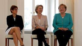 Leader of Angela Merkel's party to take over German defense ministry