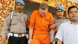Shackled Australians paraded in front of cameras after drug arrests in Bali