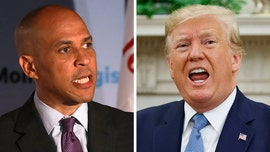 Cory Booker knocks Trump, refers to him as an 'elderly, out-of-shape man'