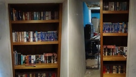 Bookshelf in suburban home hides secret door to gang's high-tech drugs lab