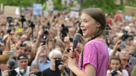 Teen climate activist Greta Thunberg mural in Canada vandalized
