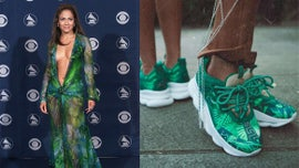 Jennifer Lopez's iconic Grammys Versace dress turned into sneakers