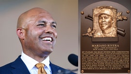 Mariano Rivera closes Hall of Fame induction ceremony as 1st player unanimously voted in