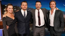 Margot Robbie, Brad Pitt and Leonardo DiCaprio 'cut through' Jimmy Kimmel monologue