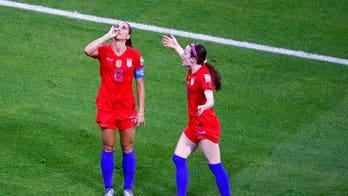 Alex Morgan says 'tea' celebration criticism amounts to double standard: 'I'm a little taken aback'