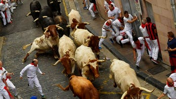 Running of the bulls leads to at least 5 gored on first day of Pamplona, Spain, festival