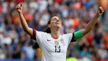 Alex Morgan revels in World Cup win with another 'tea sipping' celebration in victory photo