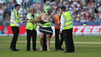 Just not cricket: Streaker in the sun delays World Cup game