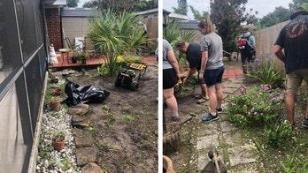 Florida deputies team up to spruce up cancer patient's backyard