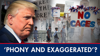 Trump blasts media over 'exaggerated' border detention center reports; Dem civil war over border bill