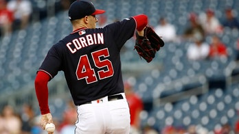 Washington Nationals' Patrick Corbin wears No. 45 to honor late friend Tyler Skaggs