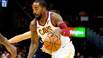 NBA player J.R. Smith blasts 'F--k Donald Trump' song, flips off pro-Trump supporters