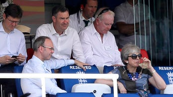 Ex-PM Theresa May enjoys first day after resignation with drink, cricket match