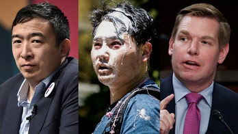 Eric Swalwell joins Andrew Yang as the only 2020 Dems to condemn Antifa attack on journalist