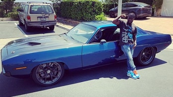 Kevin Hart bought something blue for his birthday - a custom 1970 Plymouth 'Cuda