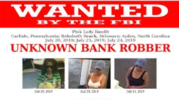 'Pink Lady Bandit' wanted by FBI after robbing four banks along East Coast