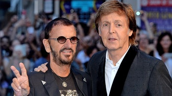 Ex-Beatles McCartney and Starr reunite onstage in LA