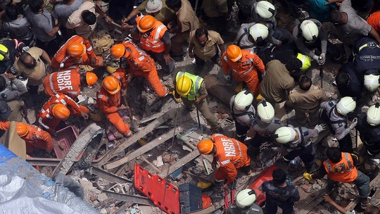 Apartment building collapses in Mumbai, at least 10 dead and many more feared trapped