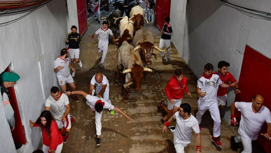 Running of the bulls ends in Spain with 3 men gored in final run