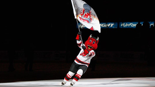New Jersey Devils mascot shatters window at child's birthday party