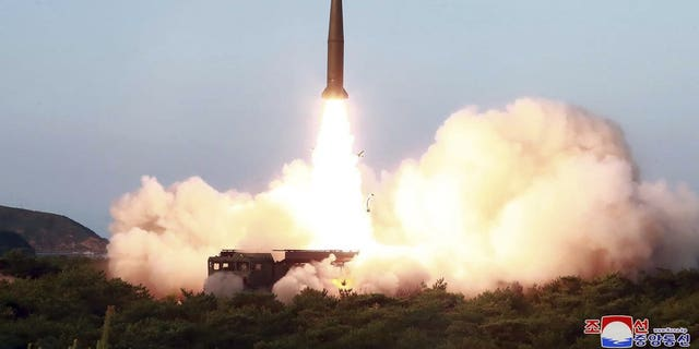 "This Thursday, July 25, 2019, photo provided on Friday, July 26, 2019, by the North Korean government shows a test of a missile launch in North Korea. A day after two North Korean missile launches rattled Asia, the nation announced Friday that its leader Kim Jong Un supervised a test of a new-type tactical guided weapon that was meant to be a ""solemn warning"" about South Korean weapons introduction and its rival's plans to hold military exercises with the United States. Independent journalists were not given access to cover the event depicted in this image distributed by the North Korean government. The content of this image is as provided and cannot be independently verified."