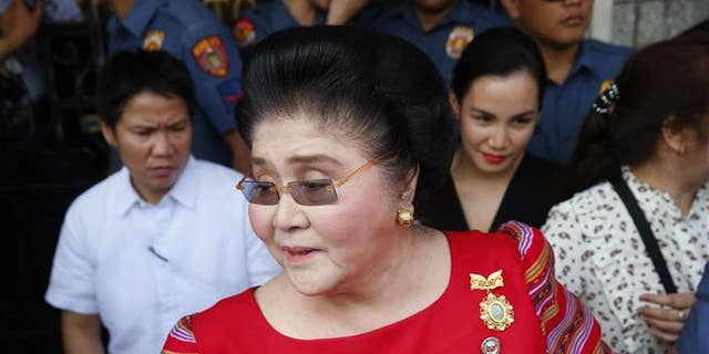 Imelda Marcos, former Philippines first lady and widow of the late dictator Ferdinand Marcos, is seen in Manila on Oct. 16, 2018.