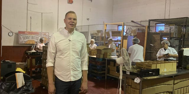 Dan Staackman, founder of Upton's Naturals, stands inside of the company's Chicago factory where it produces a half dozen meat alternatives. Upton's Naturals has filed a federal lawsuit against Mississippi, claiming the state's labeling law is violates its first amendment right to free speech. (Fox News/ Charles Watson)