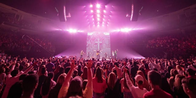 "Over 11,500 high school students and 1,300 youth leaders packed out the Infinite Energy Area in Gwinnett County, Georgia for Free Chapel's 14th Annual ""Forward Conference."""