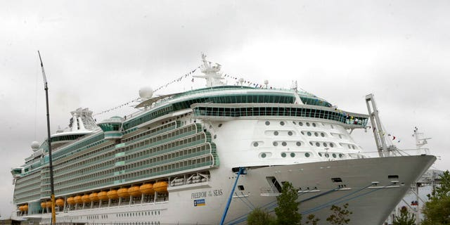 FILE: The Freedom of a Seas journey boat docked in Bayonne, N.J.
