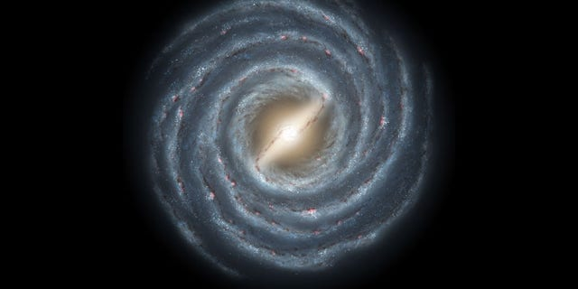 An artist's depiction of the Milky Way galaxy.