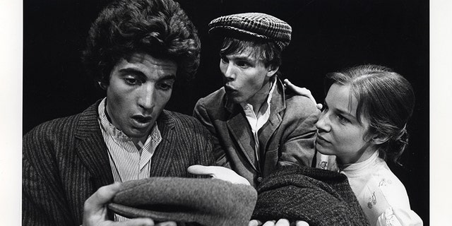John F. Kennedy Jr. (left) spent a great deal of time onstage while at Brown. This photo is from a Brown University production of The Playboy of the Western World.