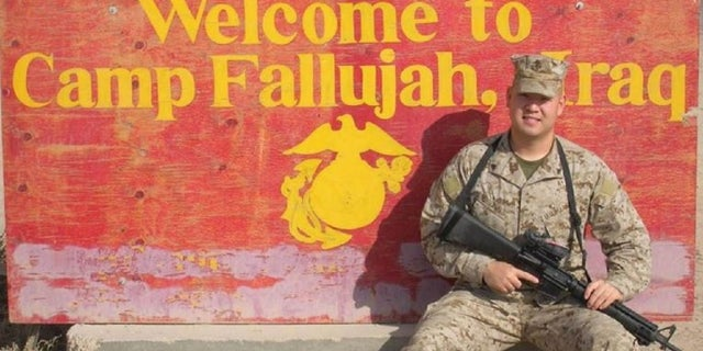 Ahn during his debate of avocation as a Marine in Fallujah, Iraq(Provisional Government of Free Joseon)