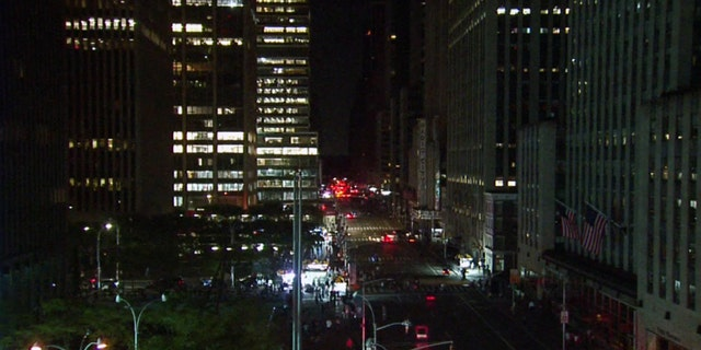 Looking north on 6th Avenue during approximately 9:50 p.m.