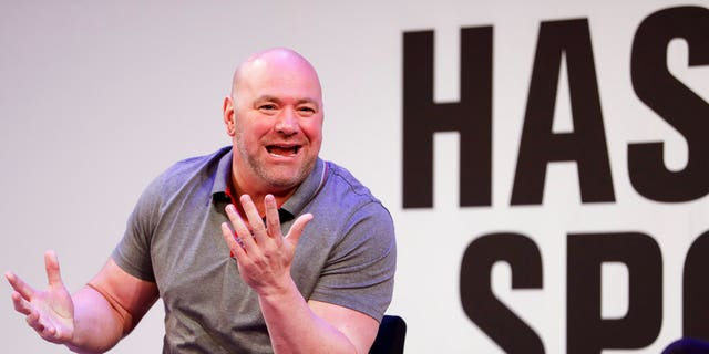 FILE: UFC President Dana White speaks with Jason Gay of the Wall Street Journal during the Hashtag Sports conference at the TimesCenter.
