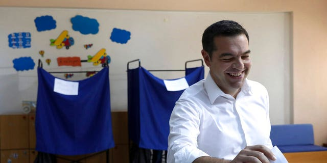 Greek Prime Minister and Syriza celebration personality Alexis Tsipras casts his list during a polling hire in Athens, on Sunday, Jul 7, 2019.