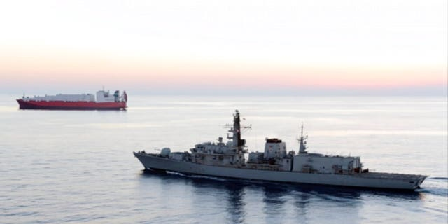 In this design from record video supposing by UK Ministry of Defence, British navy vessel HMS Montrose escorts another boat during a goal to mislay chemical weapons from Syria during sea off a seashore of Cyprus in Feb 2014. Five Iranian Islamic Revolutionary Guard Corps gunboats attempted to seize a British oil tanker in a Strait of Hormuz Wednesday though corroborated off after a British warship approached, a comparison U.S. invulnerability central told Fox News.