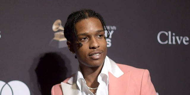 This Feb. 9, 2019 file photo shows A$AP Rocky at Pre-Grammy Gala And Salute To Industry Icons in Beverly Hills, Calif. (Photo by Richard Shotwell/Invision/AP, File)