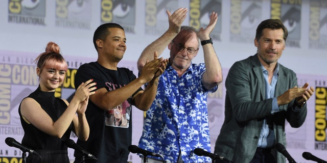 Westlake Legal Group AP19201071576454 'Game of Thrones' cast jokes about coffee cup, talks finale backlash at Comic-Con panel fox-news/entertainment/tv fox-news/entertainment/game-of-thrones fnc/entertainment fnc Associated Press article 7aef9d23-9979-5503-b846-c8a8af52b003