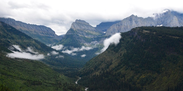 This file photo shows the view from Going-to-the-Sun Road in Glacier National Park, Mont.