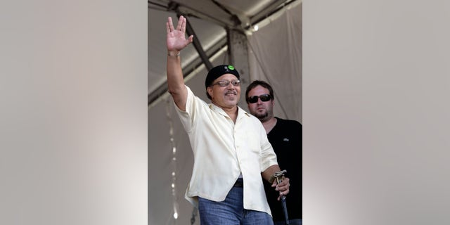 This May 4, 2008, photo shows Art Neville during the New Orleans Jazz and Heritage Festival in New Orleans.